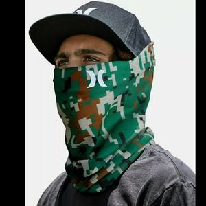 HURLEY Breathable Neck Gaiter Camo Mask Fa…